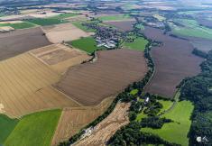 Letecké snímky obce Tuněchody
